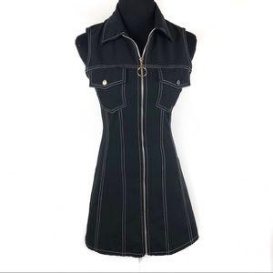 Vintage 90's zipper go go dress